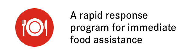A rapid response program for immediate food assistance